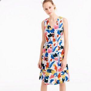 J Crew Floral Sleeveless Dress Size 8